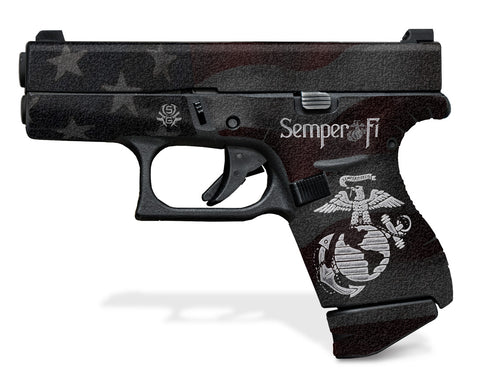Glock 42 Decal Grip - Semper Fi