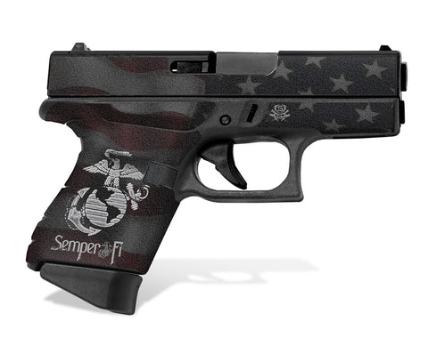 Glock 43 Tactical Grip Graphics - Semper Fi