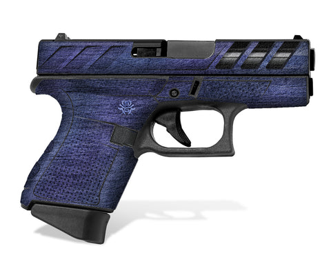 Purple-Blue SGX design on Glock 43