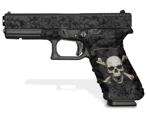 Glock 17 Gen 3 Decal Grip Graphics - Skull & Crossbones