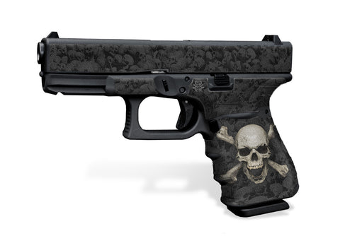 Glock 19 Gen3 Decal Grip - Skull & Crossbones