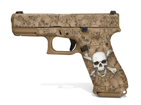 Glock 19X Decal Grip - Skull & Crossbones