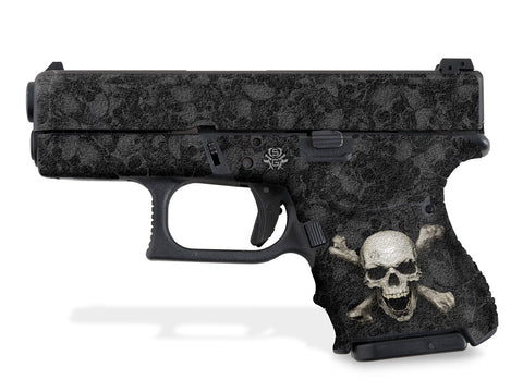 Glock 26 Decal Grip - Skull & Crossbones