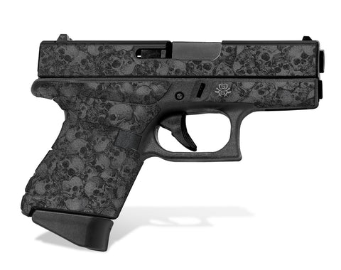 Glock 43 Tactical Grip Graphics - Skull Collector