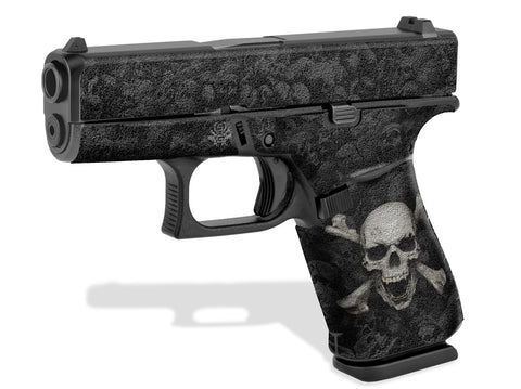 Glock 43X Decal Grip - Skull & Crossbones