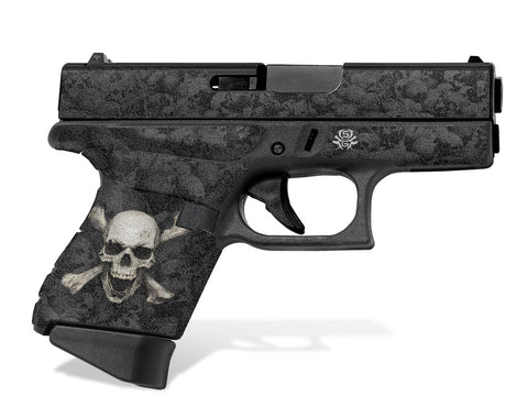 Glock 43 Tactical Grip Graphics - Skull & Crossbones