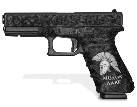 Glock 17 Gen3 Tactical Grip Graphics - Molon Labe