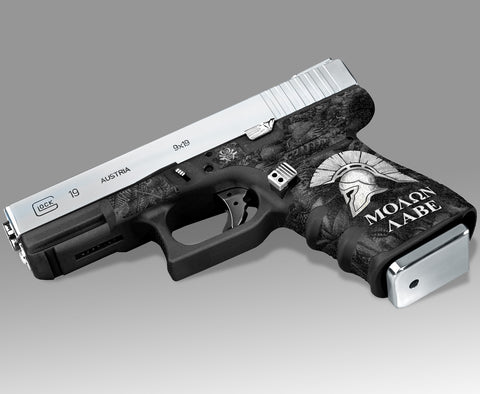 Glock 19 Gen3 Tactical Grip Graphics - Sparta