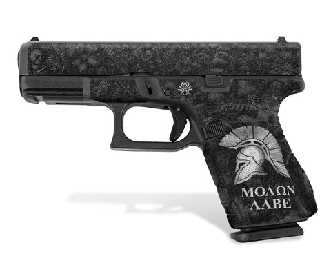 Glock 19 Gen5 Decal Grip - Molon Labe / Sparta