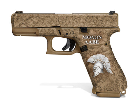 Glock 19X Decal Grip - Sparta/Molon Labe