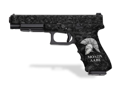 Glock 34 Decal Grip - Sparta / Molon Labe