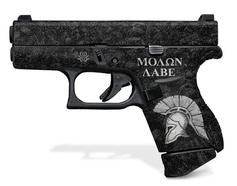 Glock 42 Decal Grip - Sparta / Molon Labe