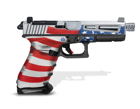 Glock 22 Gen3 Tactical Grip Graphics - Stars & Stripes