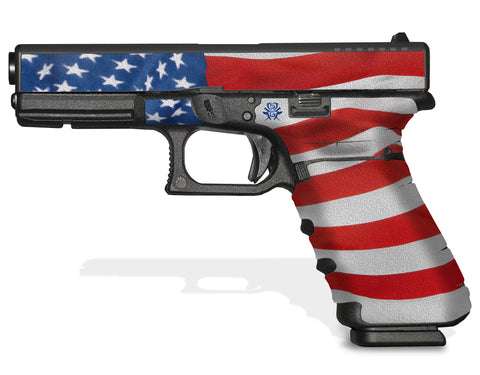 Glock 17 Gen3 Tactical Grip Graphics - Stars & Stripes