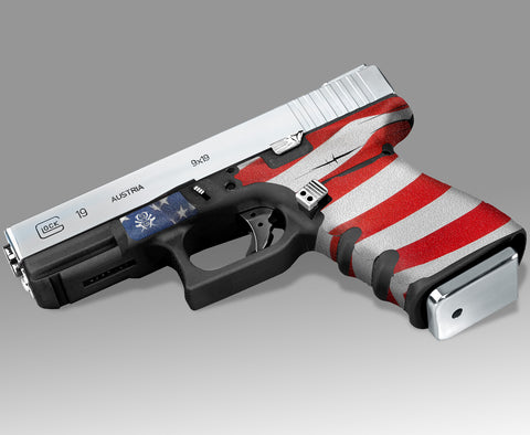Glock 19 Gen3 Tactical Grip Graphics - Stars & Stripes