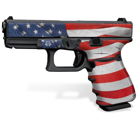 Glock 23 Gen3 Tactical Grip-Tape Graphics - Stars & Stripes