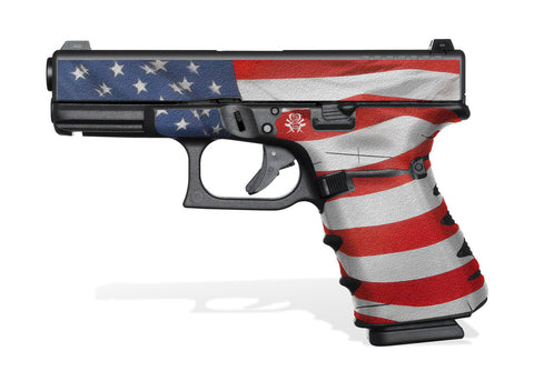 Glock 19 Gen4 Tactical Grip Graphics - Stars & Stripes