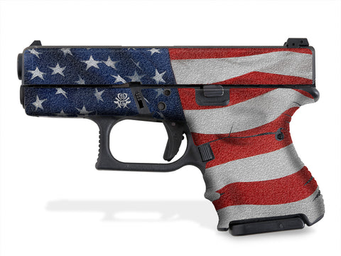 Glock 27 Decal Grip - Stars & Stripes