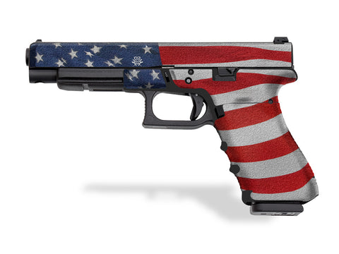 Glock 35 Decal Grip - Stars & Stripes