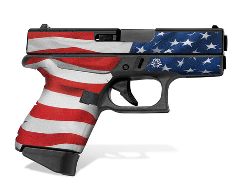 Glock 43 Tactical Grip Graphics - Stars & Stripes