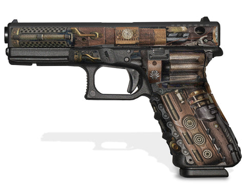 Glock 17 Gen 3 Decal Grip Graphics - Steampunk
