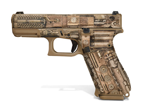 Glock 19X Decal Grip - Steampunk