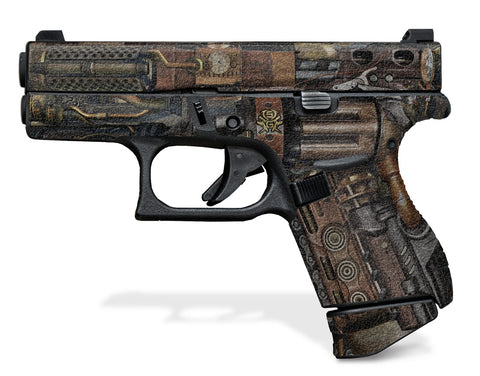 Glock 42 Decal Grip - Steampunk