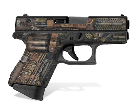 Glock 43 Tactical Grip Graphics - Steampunk