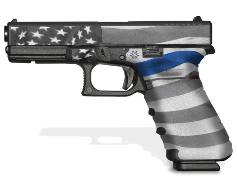 Glock 17 Gen3 Tactical Grip Graphics - Thin Blue Line