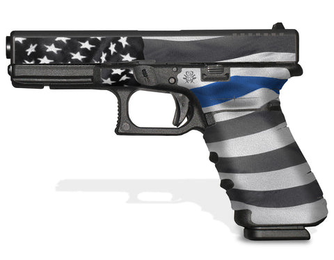 Glock 17 Gen 4 Decal Grip - Thin Blue Line