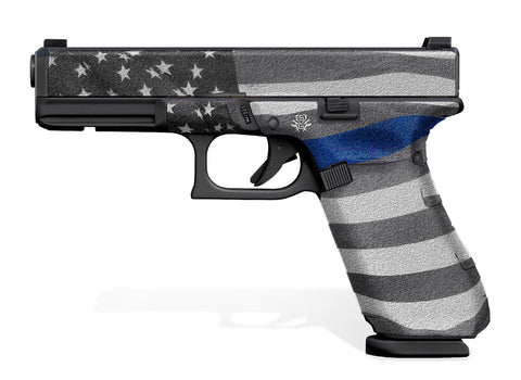 Glock 17 Gen 5 Decal Grip - Thin Blue Line