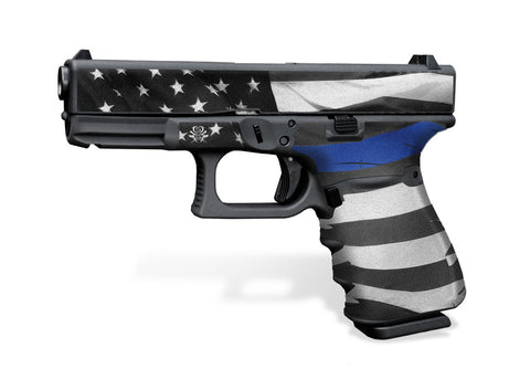 Glock 32 Gen3 Tactical Grip Graphics - Thin Blue Line