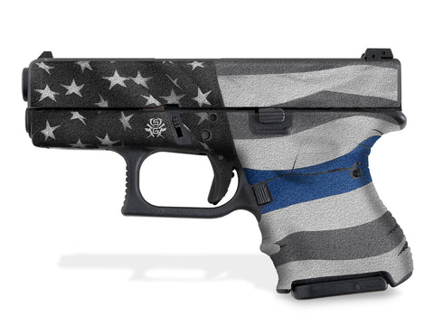 Glock 26 Decal Grip - Thin Blue Line