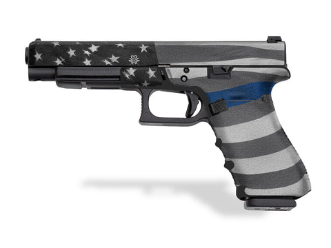 Glock 35 Decal Grip - Thin Blue Line