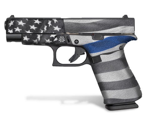 Glock 48 Decal Grip - Thin Blue Line