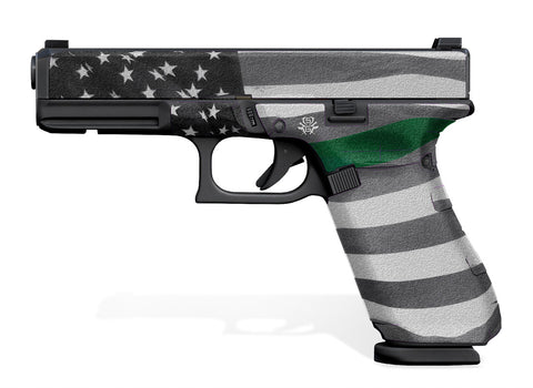 Glock 17 Gen 5 Decal Grip - Thin Green Line