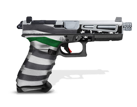 Glock 22 Gen3 Tactical Grip Graphics - Thin Green Line
