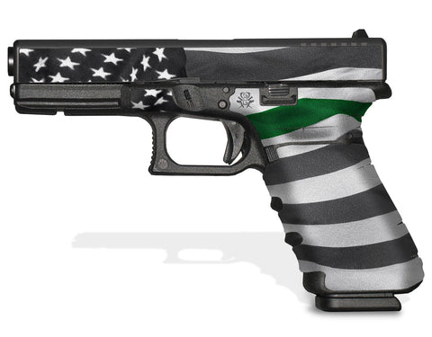 Glock 17 Gen 4 Decal Grip - Thin Green Line
