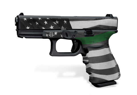 Glock 23 Gen 3 Decal Grip - Thin Green Line