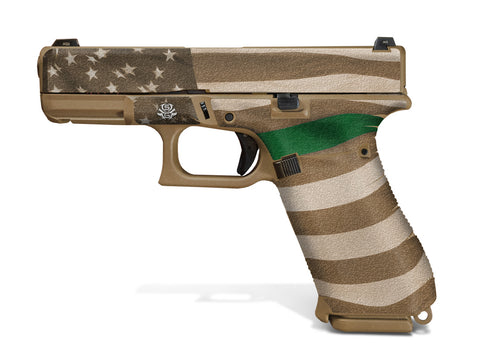 Glock 19X Decal Grip - Thin Green Line