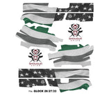 Glock 26 Decal Grip - Thin Green Line