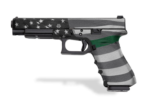 Glock 34 Decal Grip - Thin Green Line