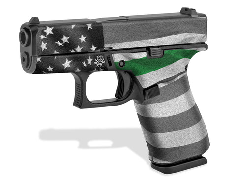 Glock 43X Decal Grip - Thin Green Line