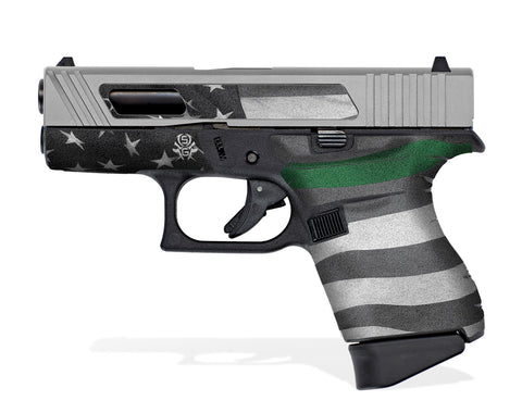 Glock 43 Tactical Grip Graphics - Thin Green Line