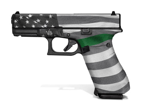 Glock 45 Decal Grip - Thin Green Line