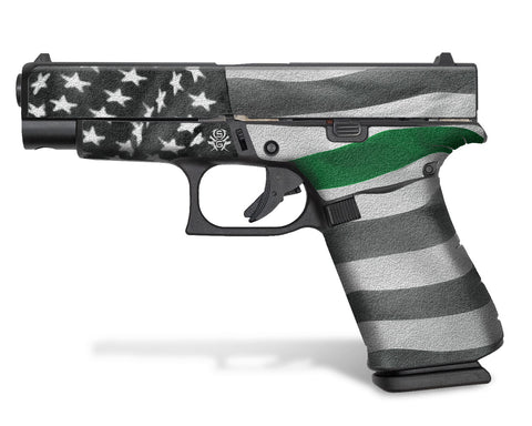 Glock 27 Decal Grip - Thin Green Line