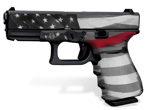 Glock 19 Gen 3 Decal Grip - Thin Red Line