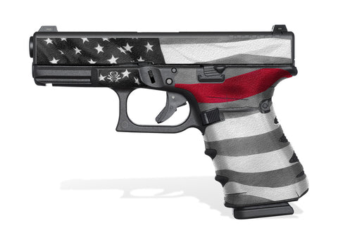 Glock 19 Gen 4 Decal Grip - Thin Red Line