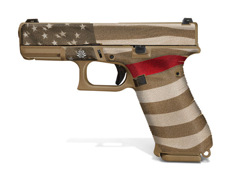 Glock 19X Decal Grip - Thin Red Line