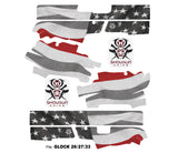 Glock 33 Decal Grip - Thin Red Line